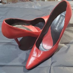 "3"" heel red pumps"